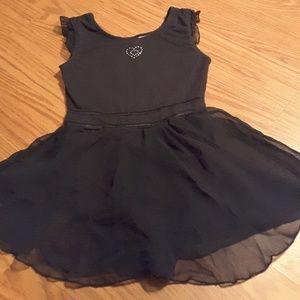 Danskin freestyle black dance costume size L 10/12